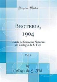 Broteria, 1904, Vol. 3