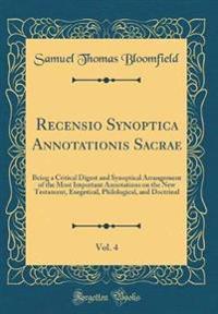 Recensio Synoptica Annotationis Sacrae, Vol. 4