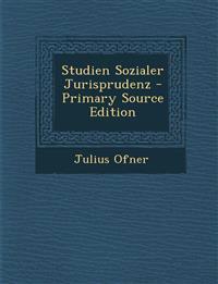 Studien Sozialer Jurisprudenz - Primary Source Edition
