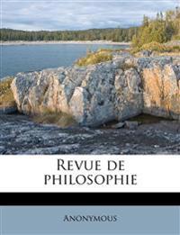 Revue de philosophi, Volume 12