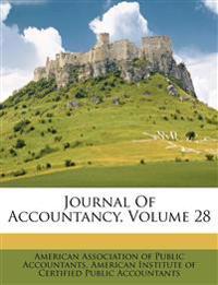 Journal Of Accountancy, Volume 28