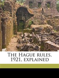 The Hague rules, 1921, explained