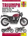 Triumph Bonneville, T100, T120, Bobber, Thruxton, Street Twin, Cup, Scrambler Service & Repair Manual (2016 to 2017)