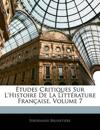 Études Critiques Sur L'histoire De La Littérature Française, Volume 7