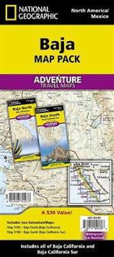 National Geographic Baja Map Pack
