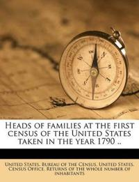 Heads of families at the first census of the United States taken in the year 1790 .. Volume 8
