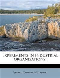 Experiments in industrial organizations;