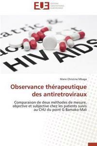 Observance Therapeutique Des Antiretroviraux