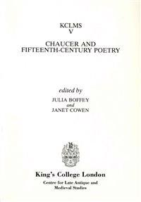 Chaucer and Fifteenth-Century Poetry