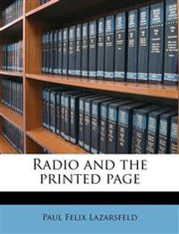 Radio and the printed page