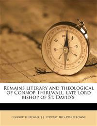 Remains literary and theological of Connop Thirlwall, late lord bishop of St. David's; Volume 3