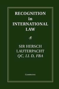 Recognition in International Law