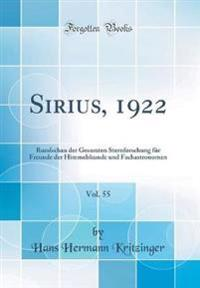 Sirius, 1922, Vol. 55