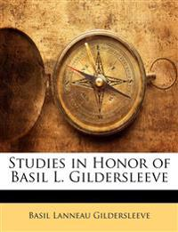 Studies in Honor of Basil L. Gildersleeve