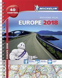 Europe 2018 - tourist and motoring atlas (a4-spiral)