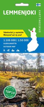 Lemmenjoki ulkoilukartta 1:100 000/1:50 000