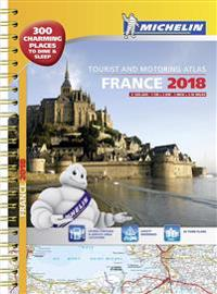 France 2018 TouristMotoring atlas A3-Spiral