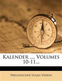 Kalender ..., Volumes 10-11...