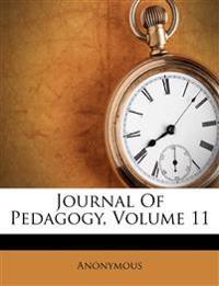 Journal Of Pedagogy, Volume 11