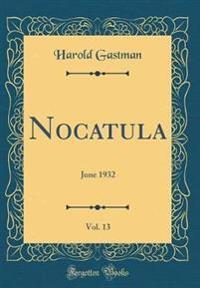 Nocatula, Vol. 13
