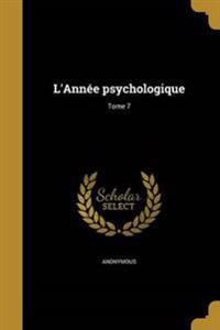 FRE-LANNEE PSYCHOLOGIQUE TOME