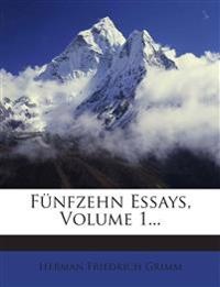 Fünfzehn Essays, Volume 1...