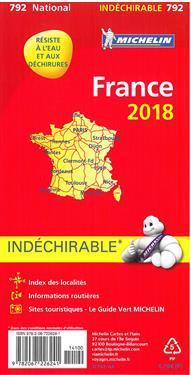 Michelin France 2018 (indéchirable) 1:1.000.000