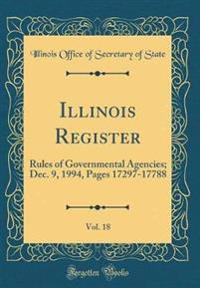 Illinois Register, Vol. 18