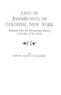 Lists of Inhabitants of Colonial New York