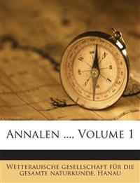 Annalen ..., Volume 1