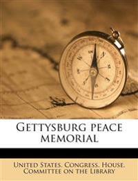 Gettysburg peace memorial
