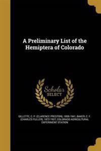PRELIMINARY LIST OF THE HEMIPT