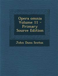 Opera omnia Volume 11