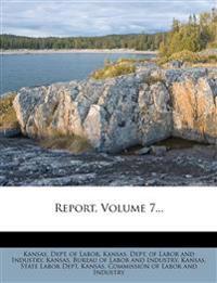 Report, Volume 7...