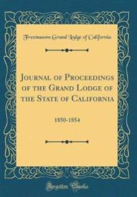 Journal of Proceedings of the Grand Lodge of the State of California