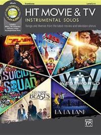 Hit Movie & TV Instrumental Solos: Songs and Themes from the Latest Movies and Television Shows (Trombone), Book & CD