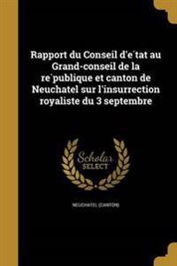 FRE-RAPPORT DU CONSEIL DE TAT