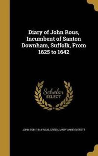 DIARY OF JOHN ROUS INCUMBENT O