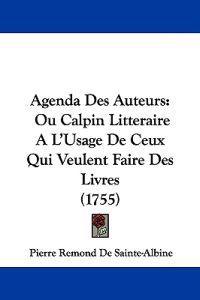 Agenda Des Auteurs