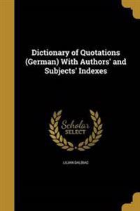 DICT OF QUOTATIONS (GERMAN) W/