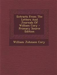 Extracts From The Letters And Journals Of William Cory