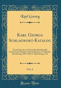 Karl Georgs Schlagwort-Katalog, Vol. 4