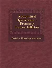 Abdominal Operations