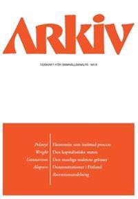 Arkiv. Tidskrift för samhällsanalys nr 8