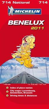 Benelux 2011 Michelin 714 karta : 1:400000