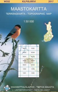 Maastokartta W332 Kilpisjärvi 1:50 000