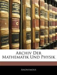 Archiv der Mathematik und Physik, Dreiundfünfstiger Band