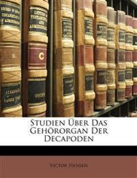 Studien über das Gehörorgan der Decapoden.
