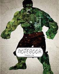 """Notebook: Watercolor Hulk V.3: Notebook Journal Diary, 120 Lined Pages, 8"""" X 10"""""""