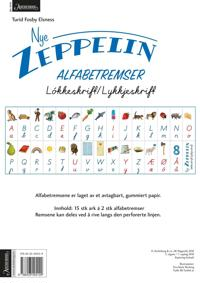 Nye Zeppelin 1. Alfabetremser. Løkke/lykkjeskrift. Norsk for barnetrinnet. 15 ark á 2 stk alfabetremser